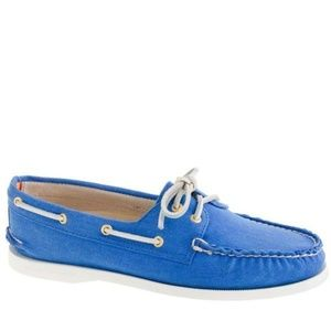 Sperry Top-Sider for J.Crew Boat Shoe Blue Sz 10